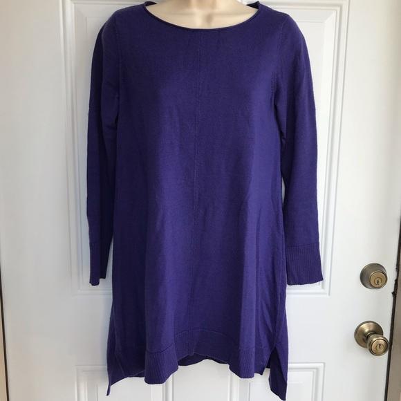Eileen Fisher Sweaters - Eileen Fisher Purple HiLow Tunic Sweater EUC